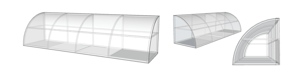 Custom CAD Drawing of Awning - Computer Aided Design of Awning a Commercial Awning System